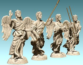 3D printable model The Four Angels - CNC Router Carving
