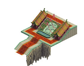 3D model Square - stairs - platform