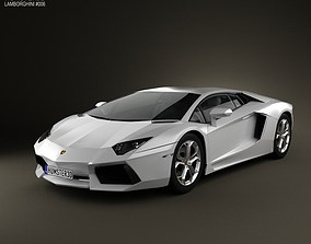 3D Lamborghini Aventador 2012
