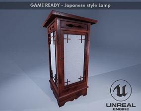 3D asset Japanese Lamp