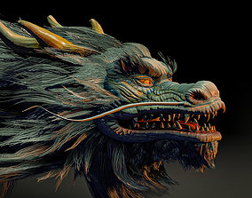 Chinese dragon 3D asset animated