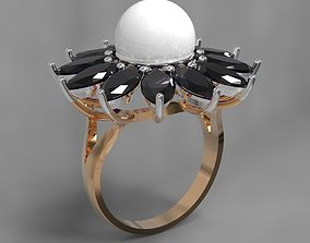 3D printable model Ring with pearl or gem 10mm many sizes