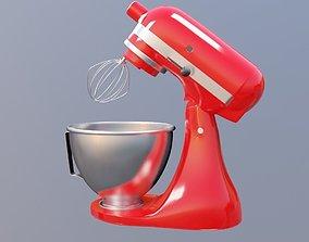 Stand mixer KitchenAid Artisan 3D asset game-ready