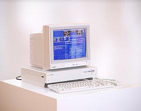 3D model Old school computer HG2