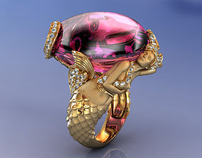 3D printable model Magerit Mermaid Ring
