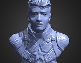 3D printable model Captain America Bust 2
