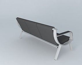 Office waiting chair 3D model