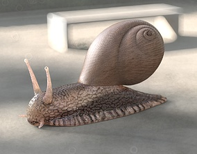 Snail Rigged PBR 3D model