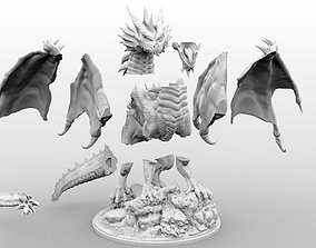 3D print model High Resolution Gargantuan Red Dragon