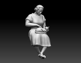 3D printable model miniatures woman