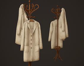 Hospital Coat Rack - PBR Game Ready jackets 3D asset
