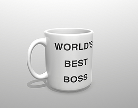 3D model Worlds Greatest Boss Mug