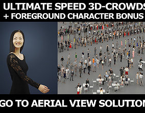3d crowds and Passion event foreground Elegant Asian