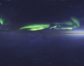 Skydome HDRI - Northern Lights 3 with Real-Time Footage 3D