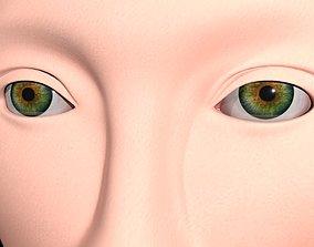 face 3D model VR / AR ready Human head
