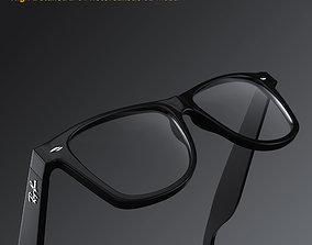 3D model Ray-Ban New Wayfarer glasses