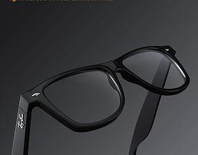 Ray-Ban New Wayfarer glasses 3D model