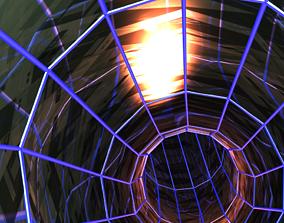 animated VR / AR ready tunnel 3d game animation
