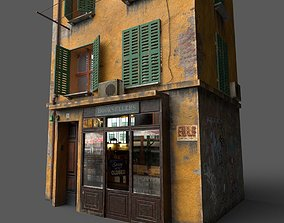 3D Old European House With Shop