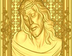 3D printable model jesus with frame and texture