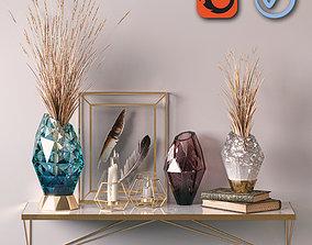 Golden Decorative Set 01 3D