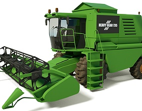 3D model Agricultural Harvester Truck with Textures HQ 1