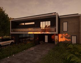 Minimal modern house 3D model