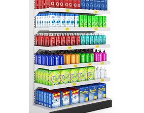 3D Supermarket Shelf