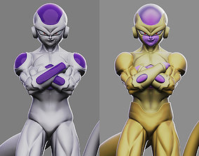 Frieza and Golden Frieza 3D printable model buu