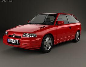 Opel Astra F 3-door GSi 1991 3D model