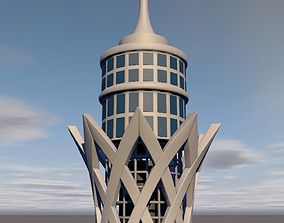 Cairo Tower 3D model square