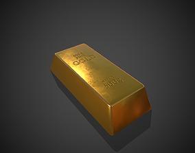 3D model Gold Bar 500g