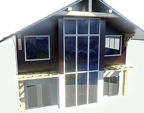 country house residential-building 3D model