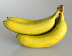 Banana Bunch with specular and normal maps 3D model