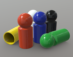Board Game Pawns 3 3D model