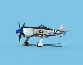 Hawker Sea Fury V14 RCAF 3D