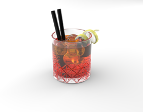 Cocktail Glass Aperol Spritz 3D model