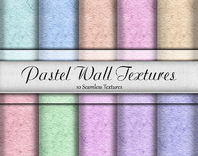 3D Pastel Wall Textures Seamless Textures Set