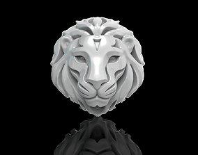 Lion Face gold 3D printable model