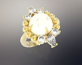 Ring Flowers 3D print model sapphire