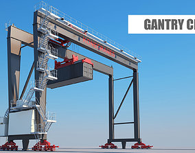 3D Gantry crane harbor