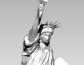 Statue of Liberty Lowpoly Style 3D print model Printable