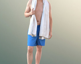 10863 Will - Man With Bermuda Shorts And Towel 3D model