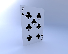 Seven of Clubs 3D