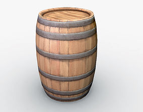 Barrel 3D model low-poly