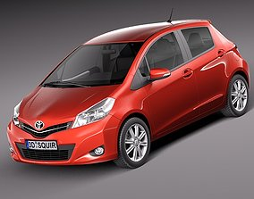 3D Toyota Yaris 2012 5-door
