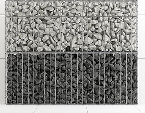Gabion stone rock big 3D
