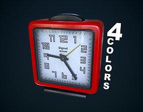 Old plastic alarm clock 3D model