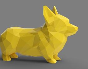 Lowpoly Corgi STL for 3D printable model