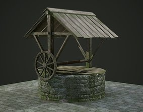 Ancient Stone Well for Games 3D asset